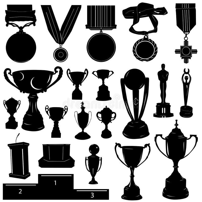 Vector de la recompensa de los deportes stock de ilustración