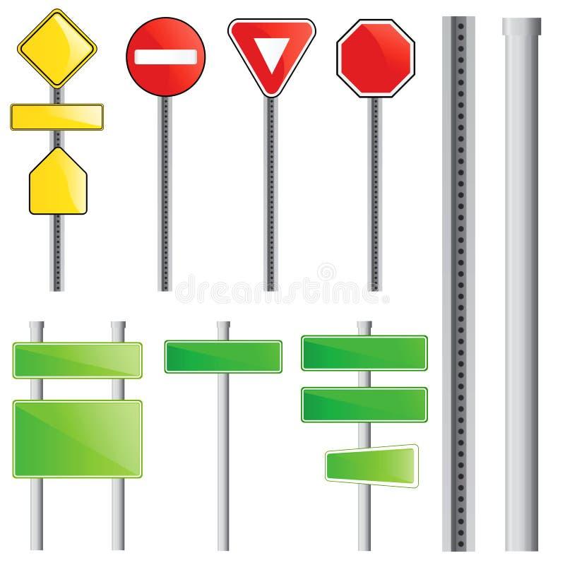 Vector de la señal de tráfico ilustración del vector