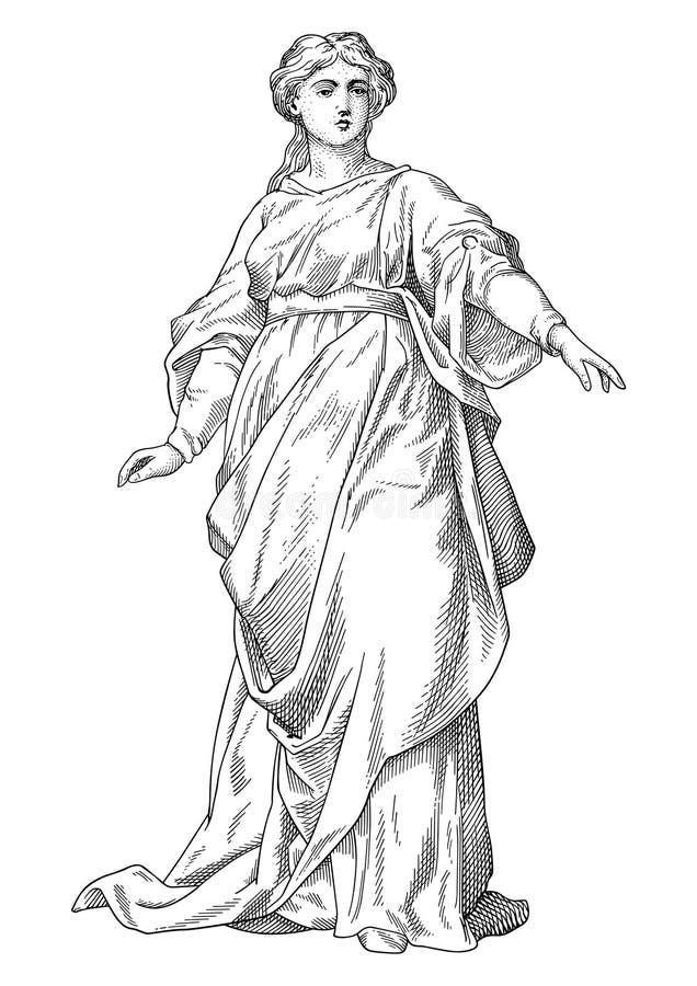 Vector de la señora stock de ilustración