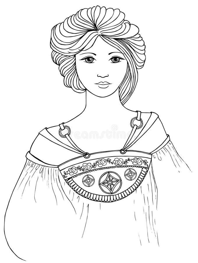 Vector de la señora del estilo de Mucha libre illustration