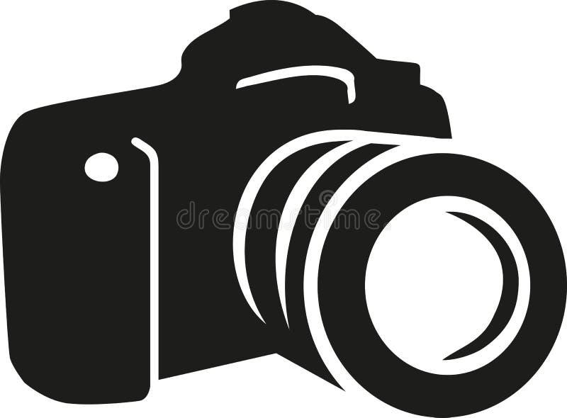 Vector de la silueta de la cámara stock de ilustración