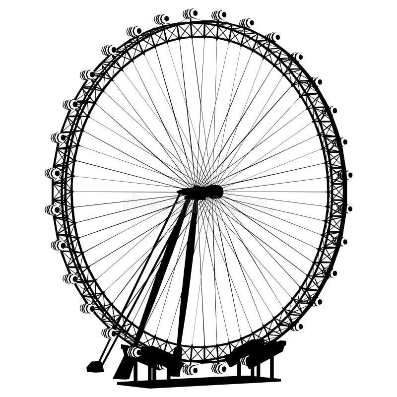 Vector de la silueta del carrusel stock de ilustración