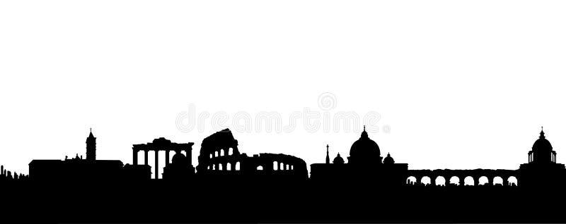 Vector de la silueta del negro de Roma ilustración del vector