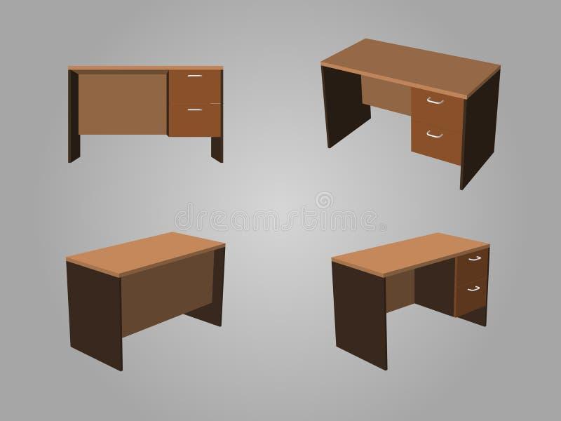 Vector de la tabla de la oficina de Brown imagen de archivo libre de regalías