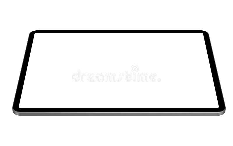 Vector de la tableta de Digitaces que dibuja la opinión de ángulo horizontal de la perspectiva imagen de archivo libre de regalías