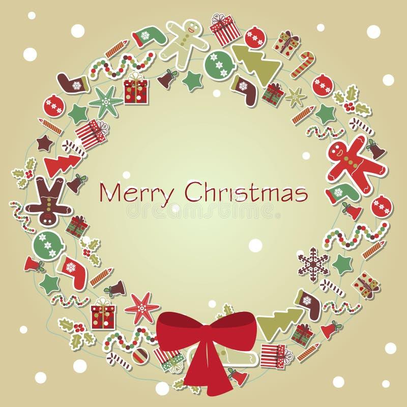 Vector de la tarjeta de Navidad ilustración del vector