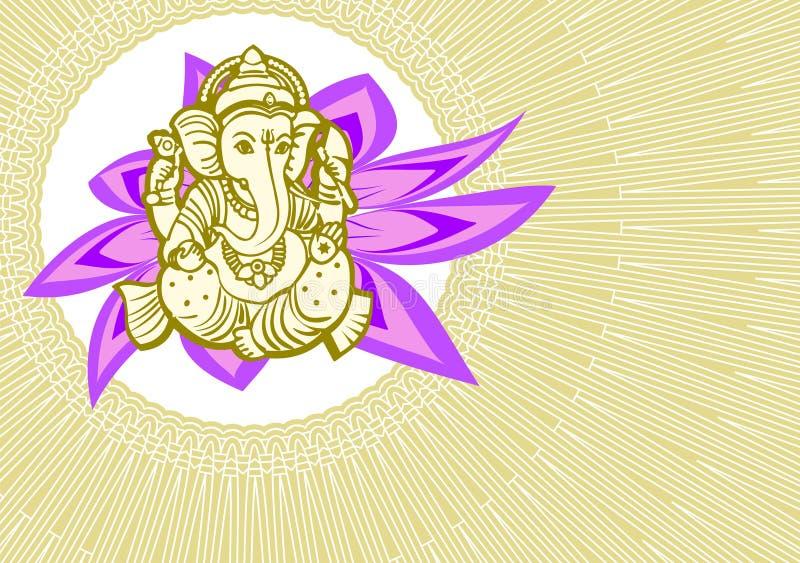 Vector de la tarjeta de Shree Ganesha stock de ilustración
