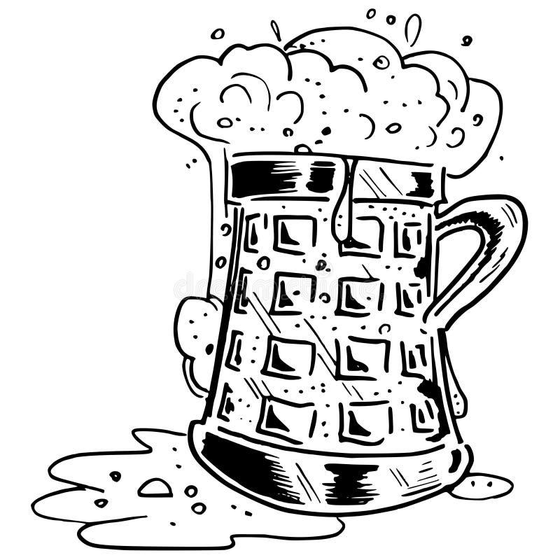 Vector de la taza de cerveza fotos de archivo