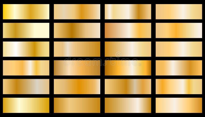 Vector de la textura del fondo del oro stock de ilustración