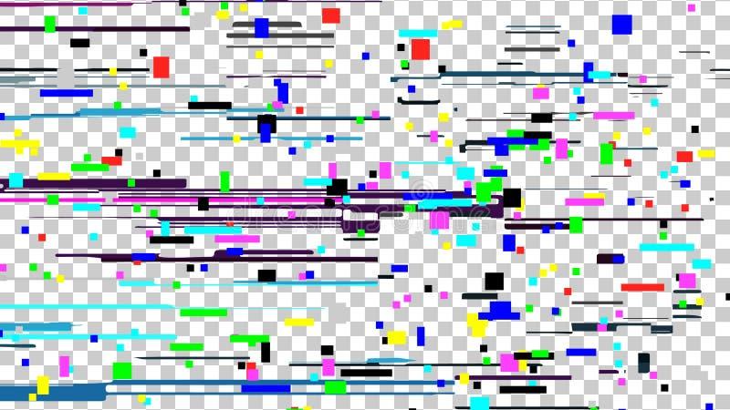 Vector de la textura del ruido de la interferencia Transmisión quebrada Introducción y el final de la programación de la TV Red d stock de ilustración