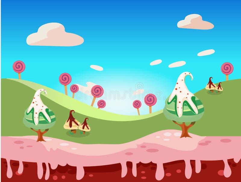 Vector de la tierra del caramelo libre illustration