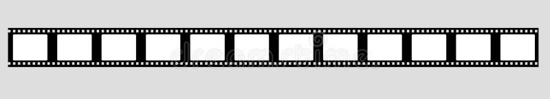 vector de la tira de la película de 35 milímetros ilustración del vector
