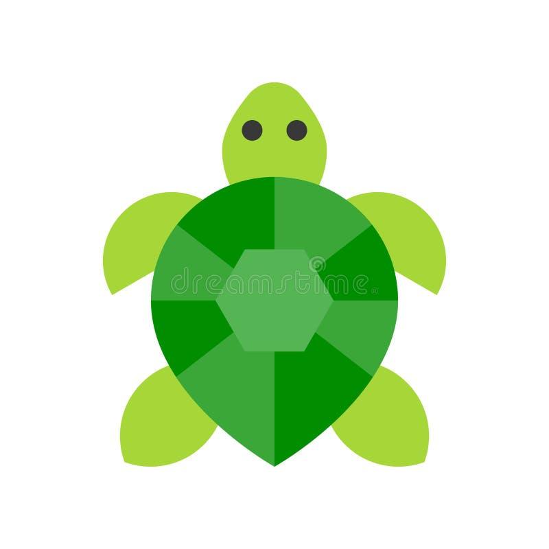 Vector de la tortuga, icono plano relacionado tropical del estilo ilustración del vector