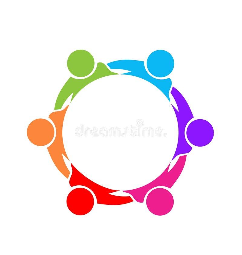 Vector de la unidad de la comunidad del grupo de la diversión del trabajo en equipo libre illustration