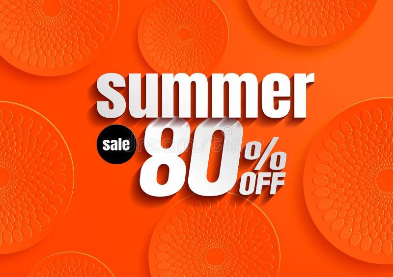 Vector de la venta del verano stock de ilustración