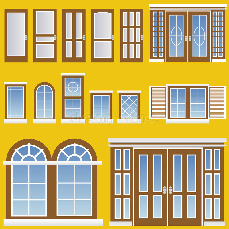 Vector de la ventana y de la puerta libre illustration