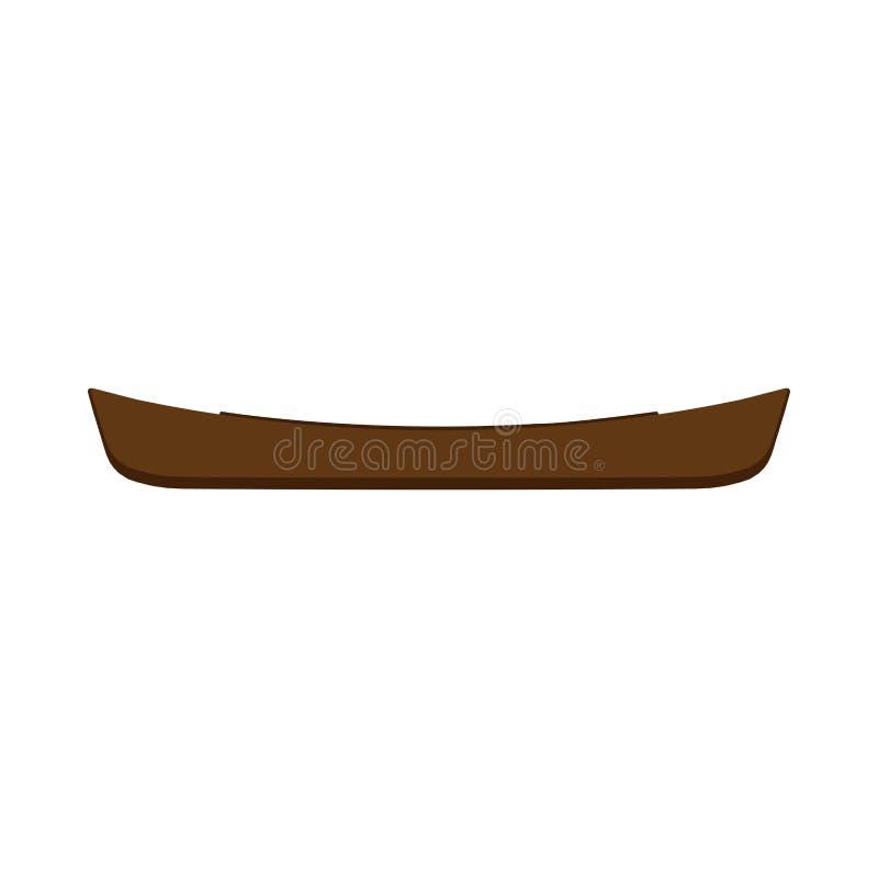 Vector de la vista lateral del kajak del turismo de la actividad de la canoa Los deportes extremos transportan el icono de la ave stock de ilustración