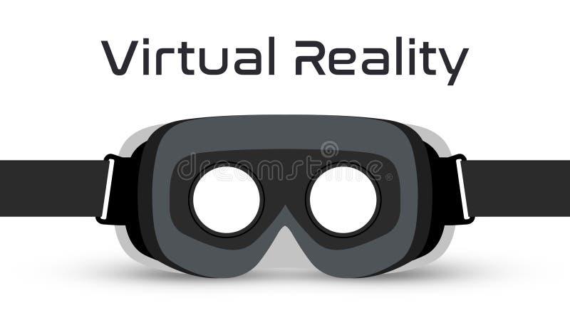 Vector de las auriculares de las gafas VR de la realidad virtual stock de ilustración