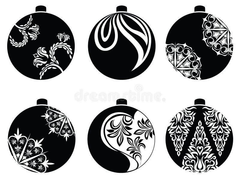 Vector de las bolas de la Navidad stock de ilustración
