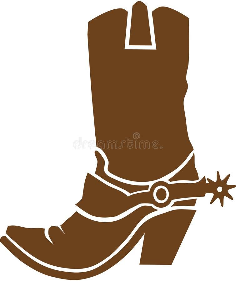 Vector de las botas de vaquero stock de ilustración