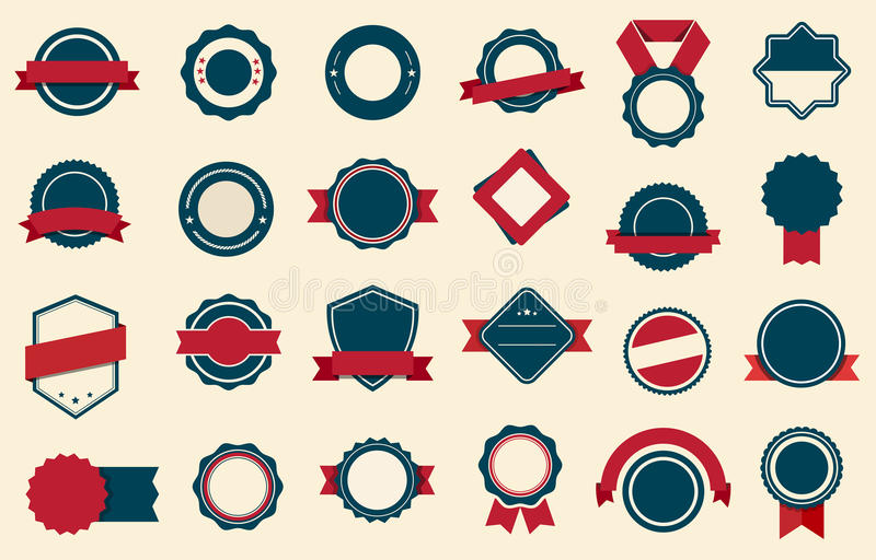 Vector de las cintas de las etiquetas de las insignias libre illustration