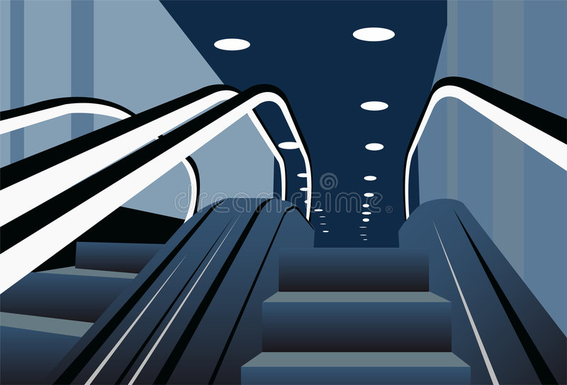 Vector de las escaleras móviles libre illustration