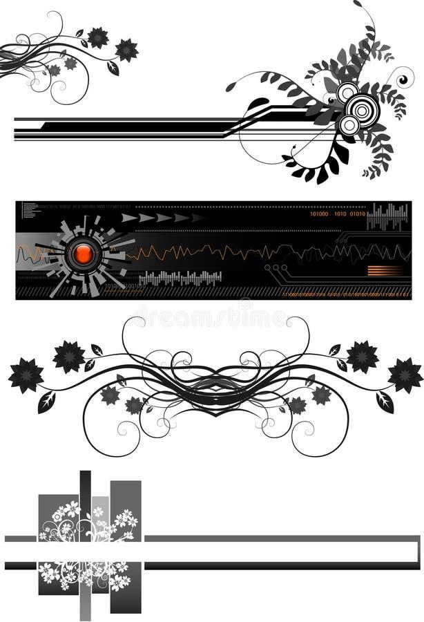 Vector de las fronteras ilustración del vector