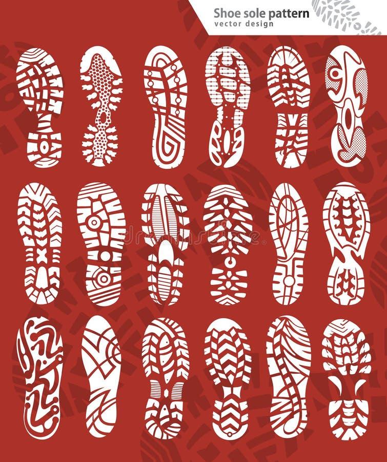 Vector de las impresiones del zapato stock de ilustración