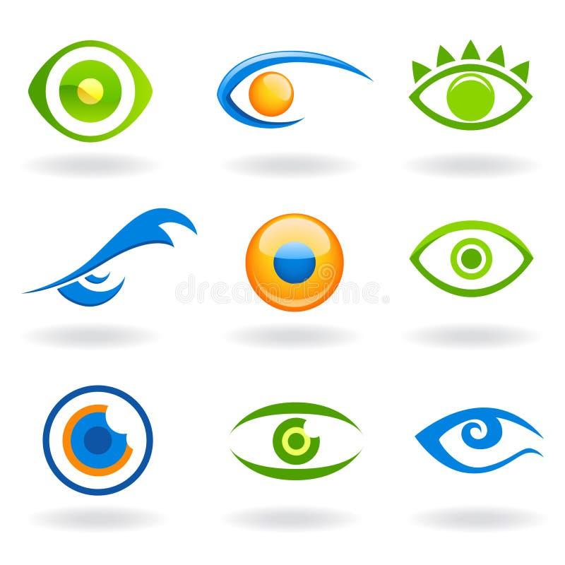 Vector de las insignias del ojo libre illustration
