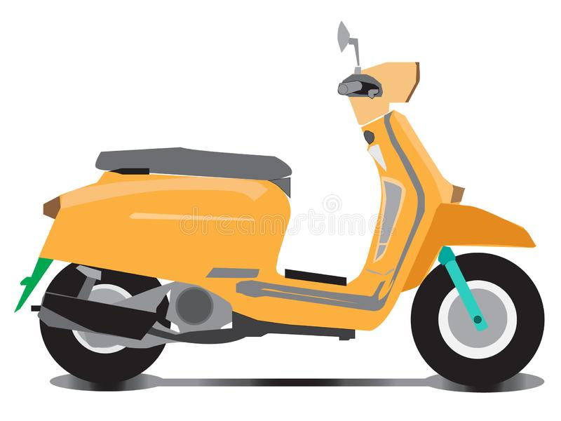 Vector de las motos autom?ticas o manuales de la vespa ilustración del vector