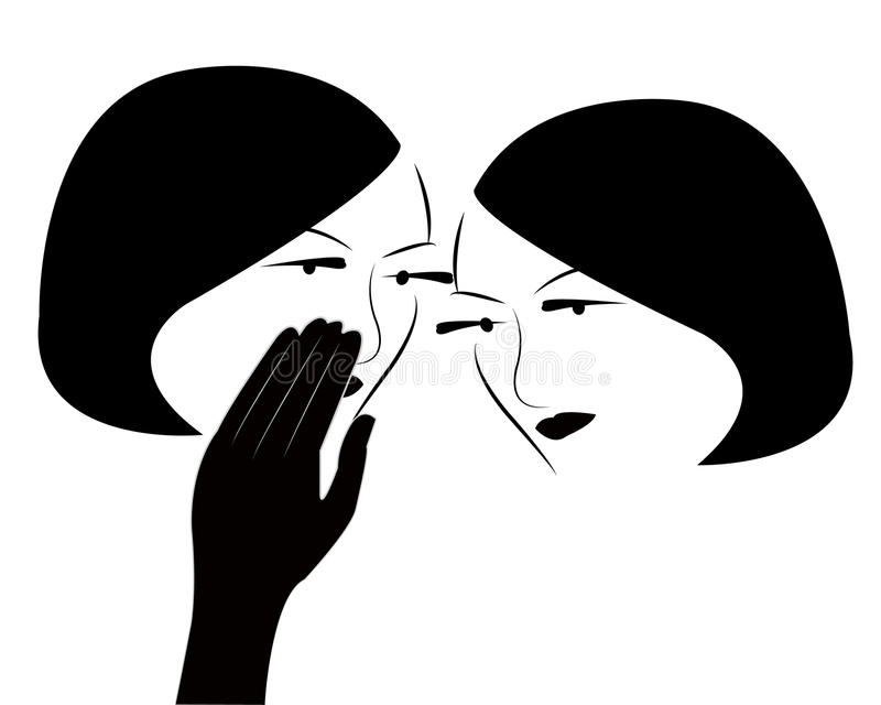Vector de las muchachas del chisme stock de ilustración
