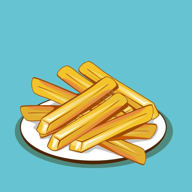 Vector de las patatas fritas stock de ilustración