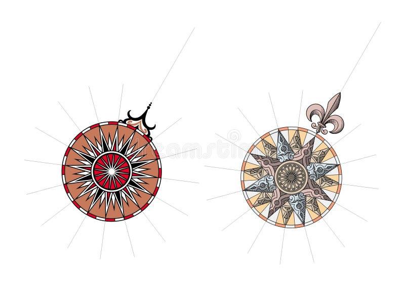 Vector de las rosas de viento libre illustration