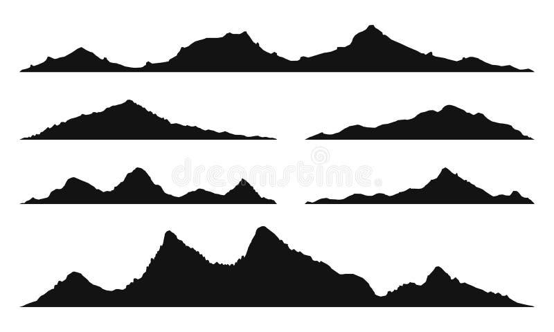 Vector de las siluetas de las montañas libre illustration