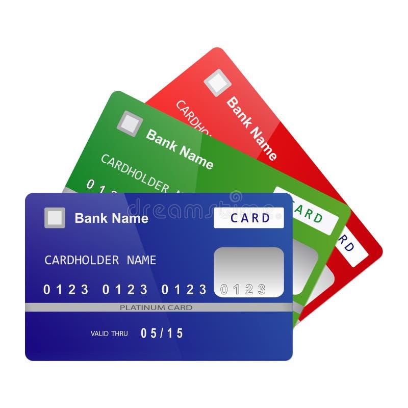 Vector de las tarjetas de crédito ilustración del vector