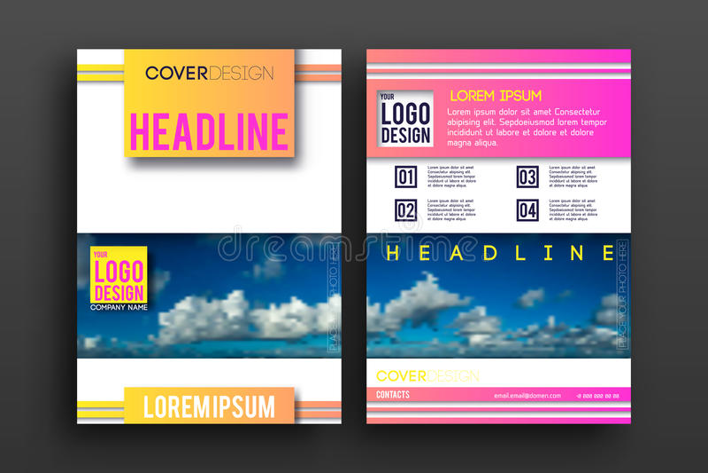Vector de Lay-outmalplaatje van het Brochureontwerp stock illustratie