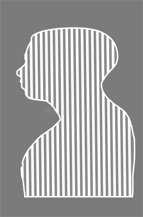 Vector de lijnpictogram van het mensenprofiel stock illustratie