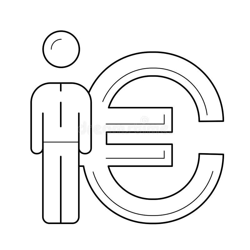 Vector de lijnpictogram van de muntmarkt royalty-vrije illustratie