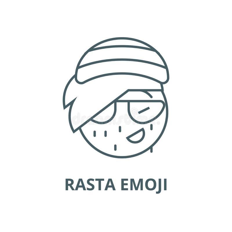 Vector de lijnpictogram van Rastaemoji, lineair concept, overzichtsteken, symbool stock illustratie