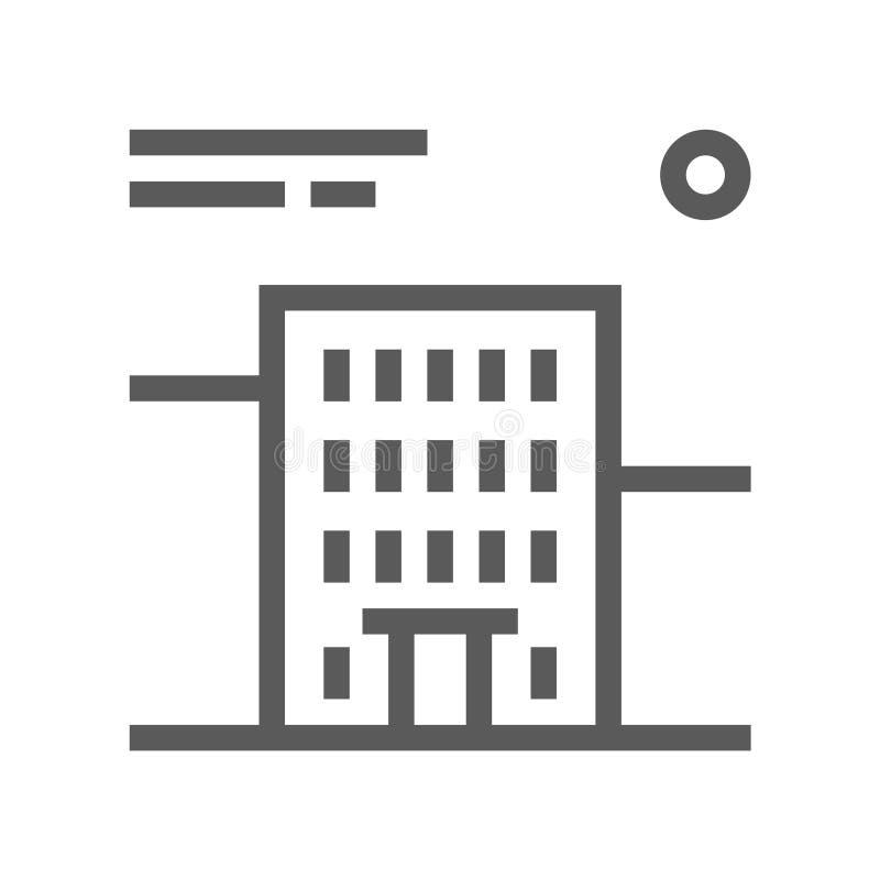 Vector de Lijnpictogram van Real Estate Editableslag 48x48 Perfect pixel stock illustratie