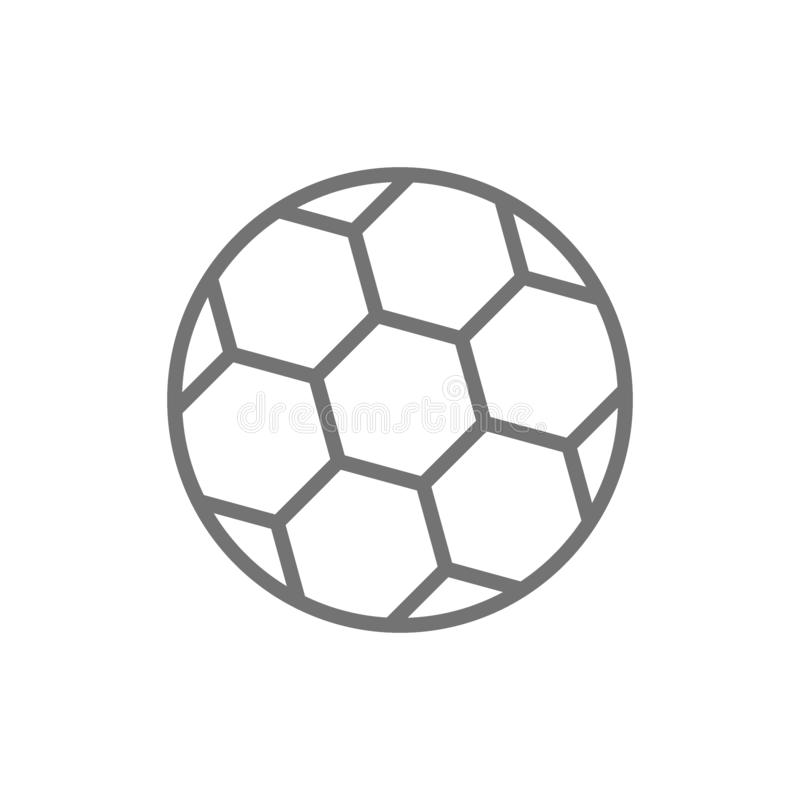 Vector de lijnpictogram van de voetbalbal stock illustratie