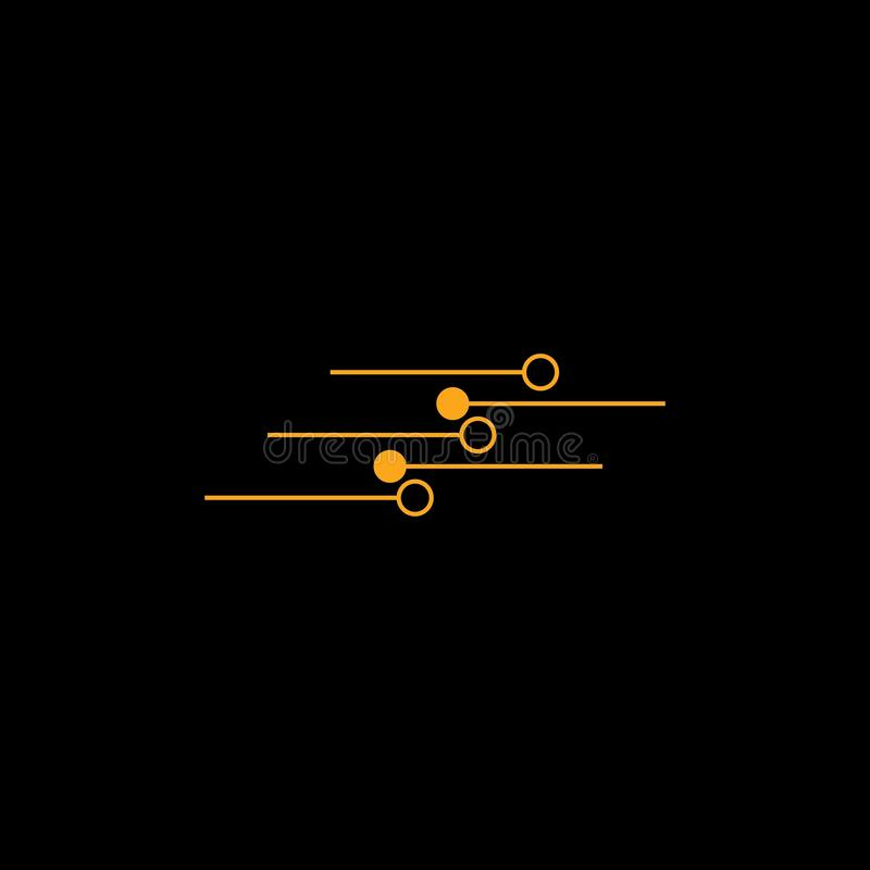 Vector de Logo Template del circuito libre illustration