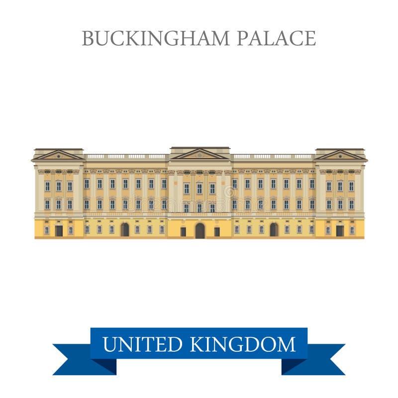 Vector de Londres Gran Bretaña Reino Unido del Buckingham Palace stock de ilustración