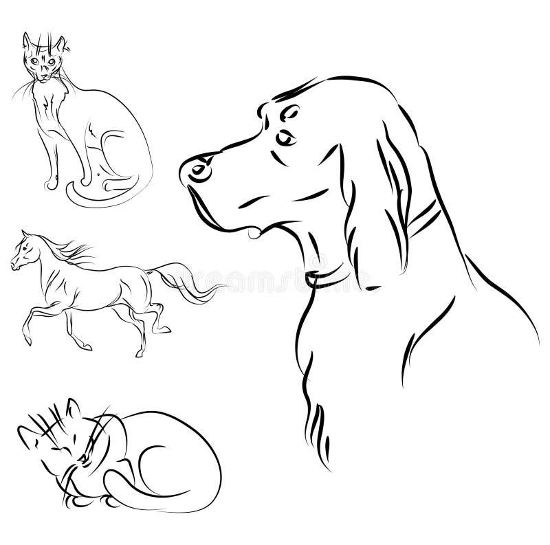 Vector de los animales stock de ilustración