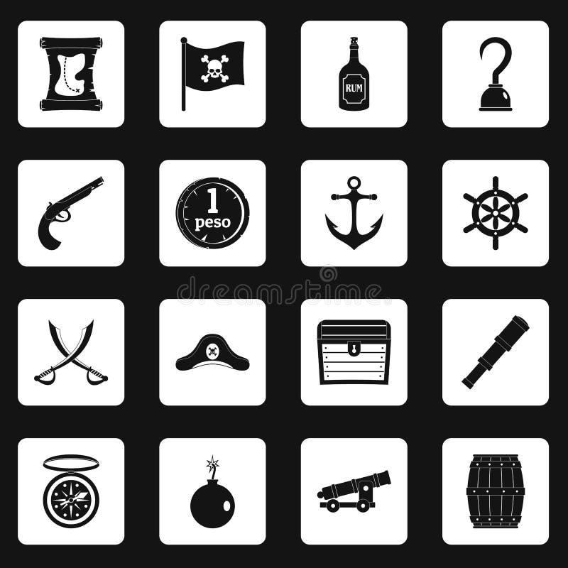 Vector de los cartabones de los iconos del pirata libre illustration
