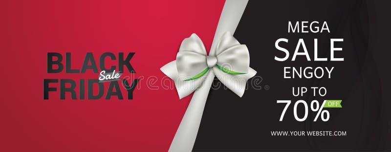 Vector de los carteles de la venta de Black Friday stock de ilustración