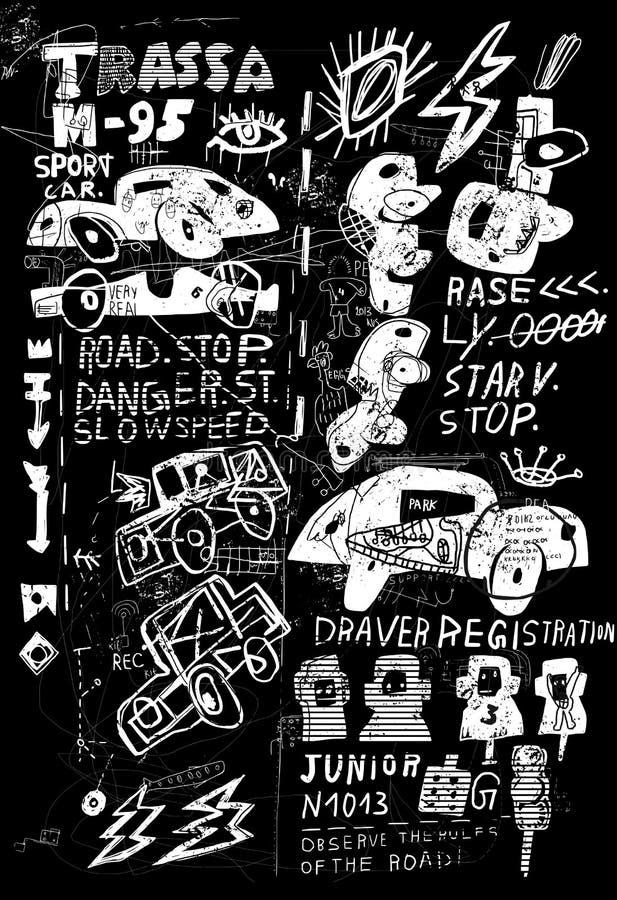 Vector de los coches stock de ilustración