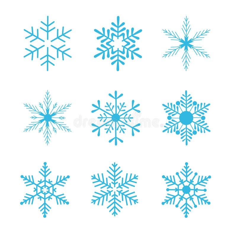 Vector de los copos de nieve stock de ilustración