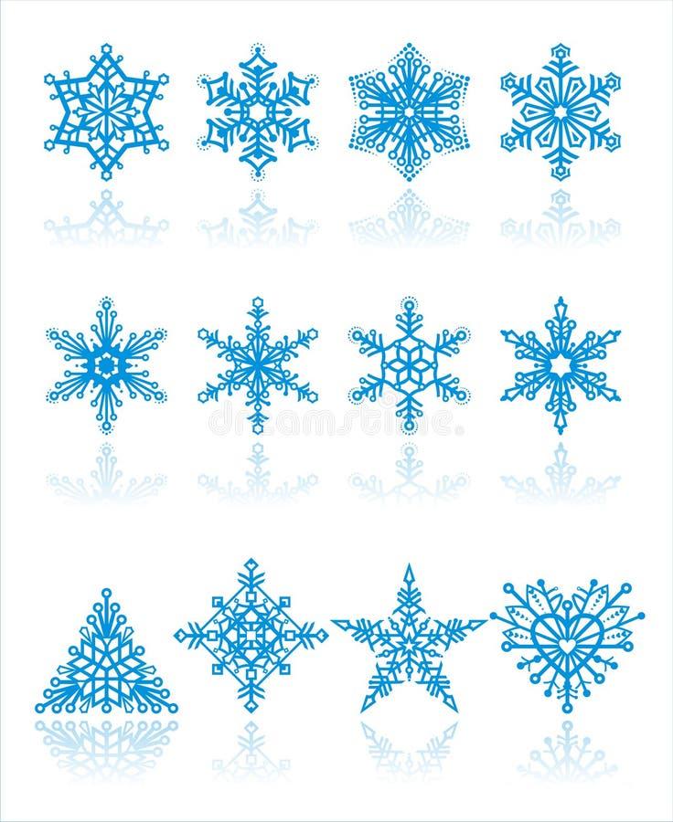 Vector de los copos de nieve de la Navidad ilustración del vector