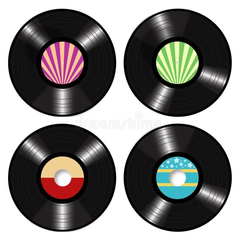 Vector de los discos de vinilo del Lp stock de ilustración